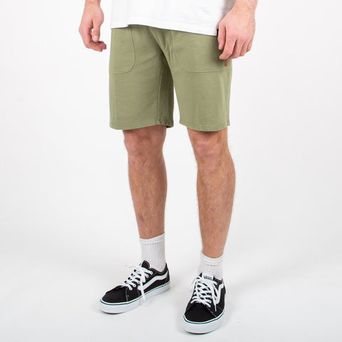 SLACKER JOG SHORTS - LEAF GREEN