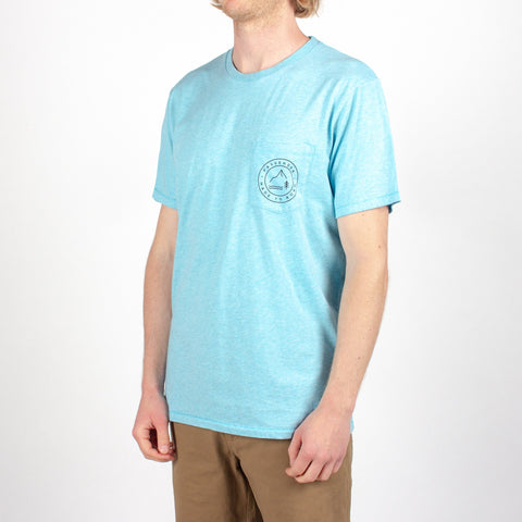 CURL T-SHIRT - BLUE MARL