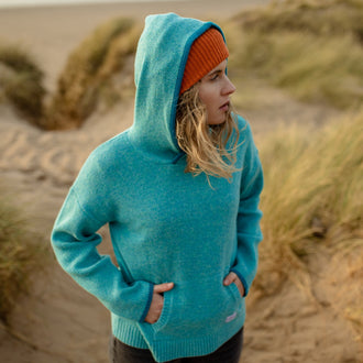 EARLY RISER HOODIE - LAKE BLUE