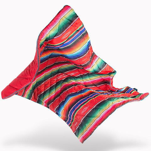 Rumpl Original Printed Puffy Blanket Throw - El Puffy Rojo