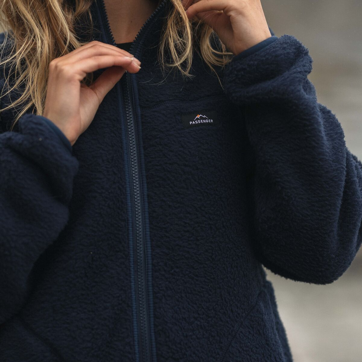 Fairbanks Full Zip Sherpa Fleece - Navy image 4