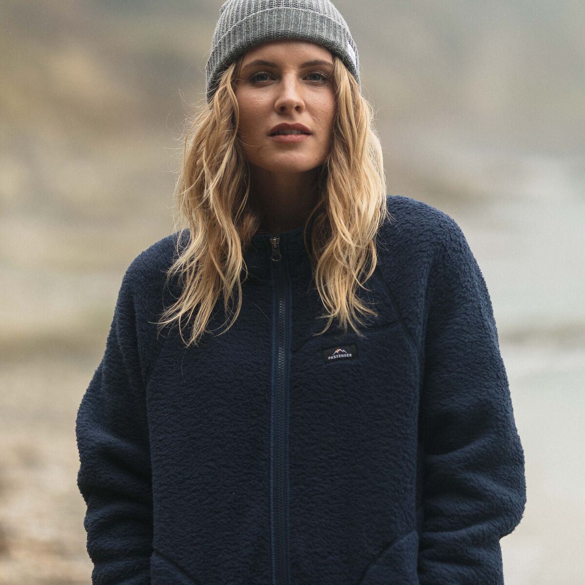 Fairbanks Full Zip Sherpa Fleece - Navy image 2