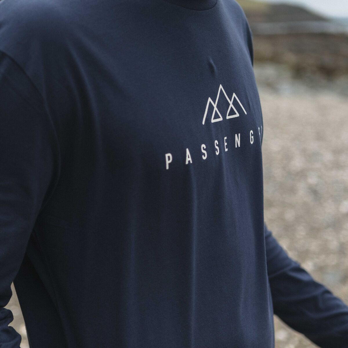 Hatchet  L/S T-Shirt - Navy image 3