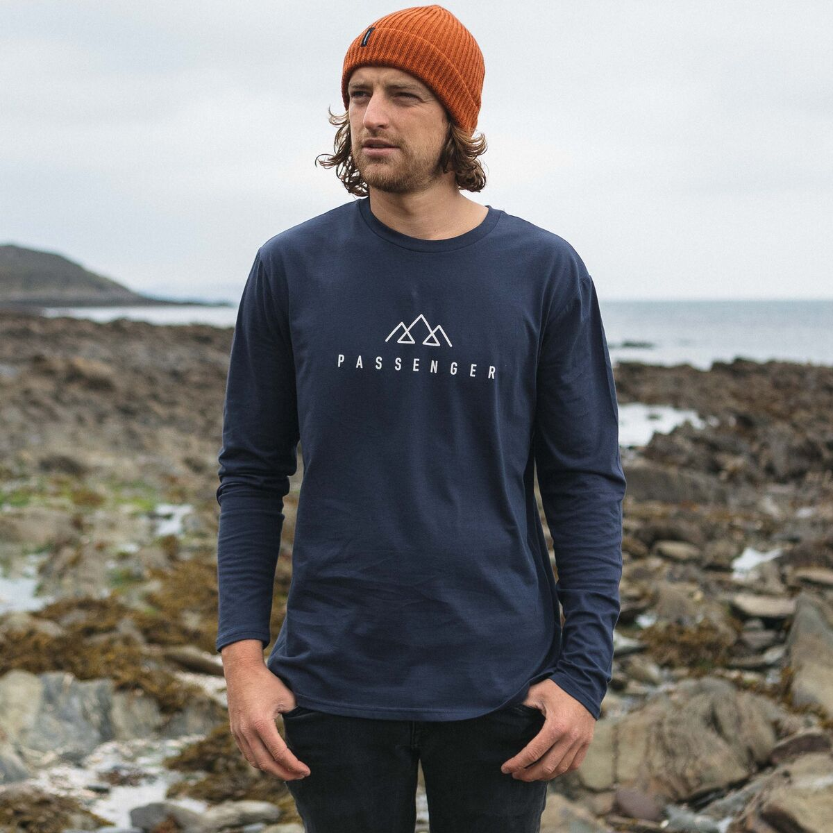 Hatchet  L/S T-Shirt - Navy image 6