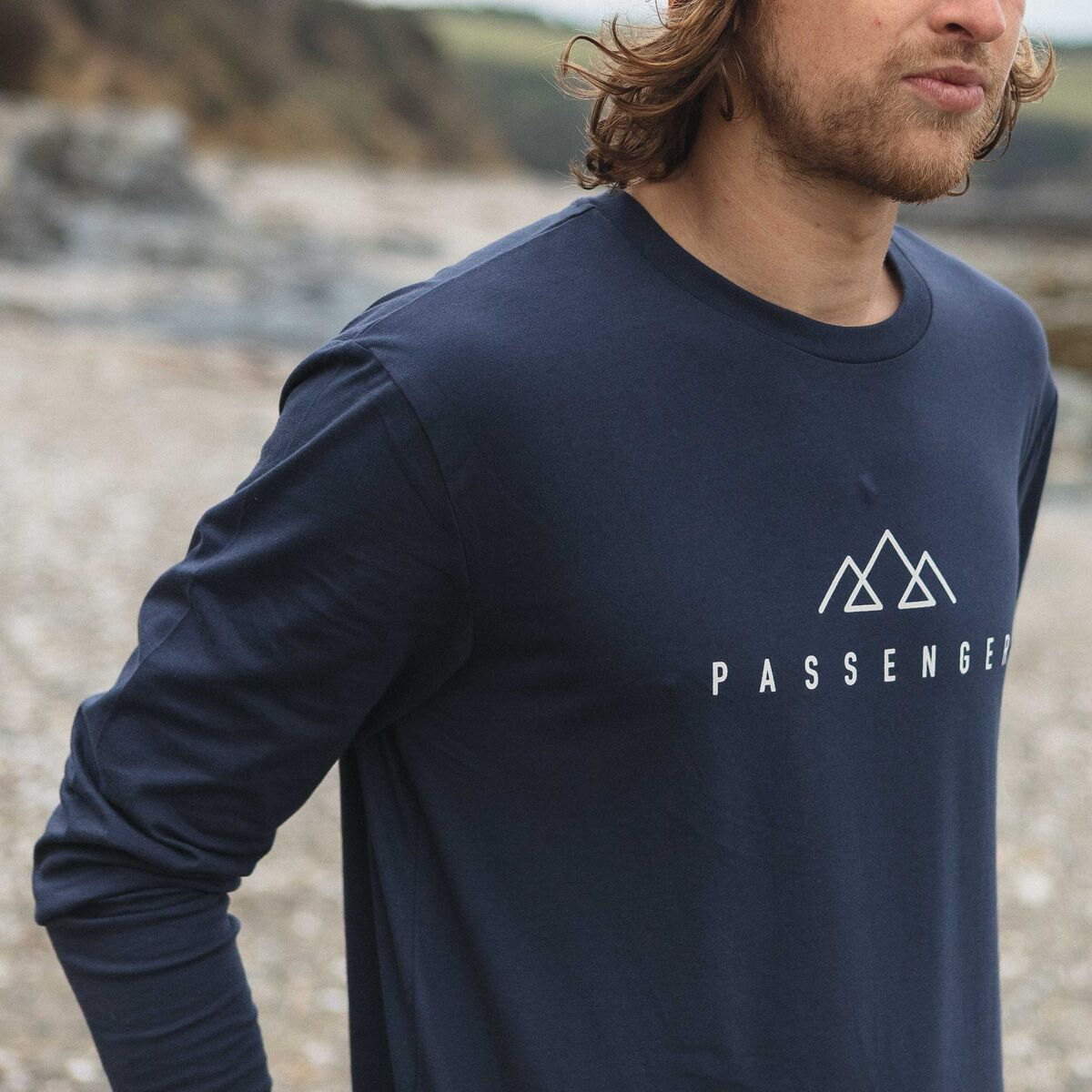 Hatchet  L/S T-Shirt - Navy image 1