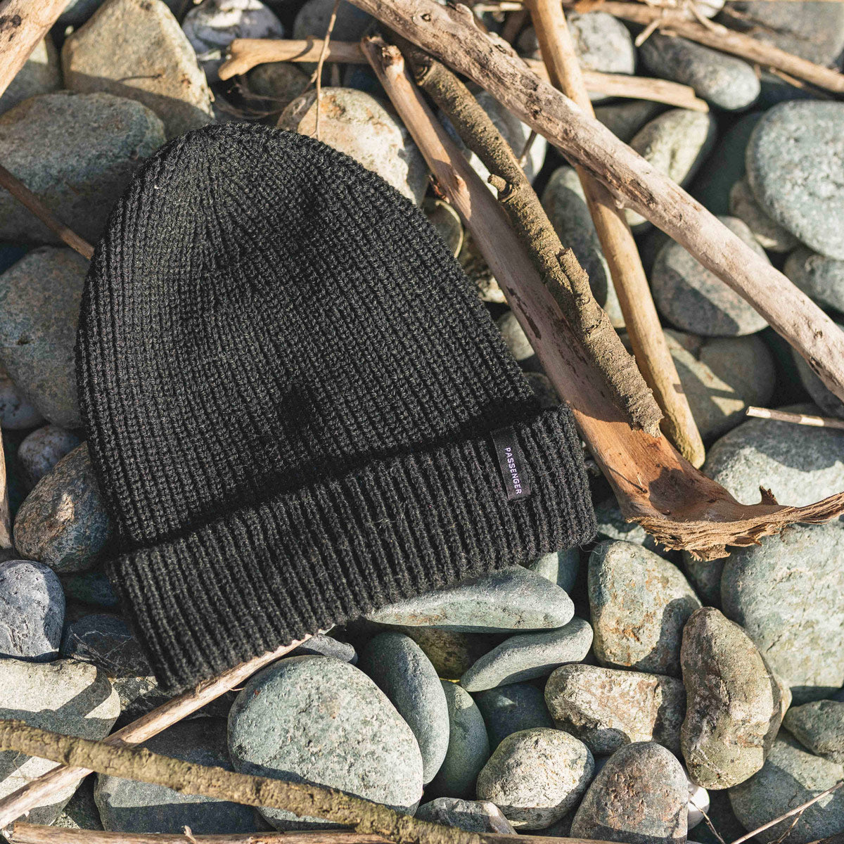 Compass Beanie - Faded Black image 5