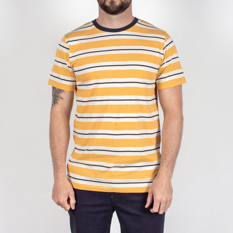 HAYDEN T-SHIRT - GOLDEN YELLOW STRIPE