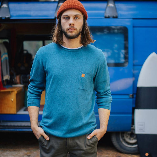 Himalayas Knitted Sweater - Teal