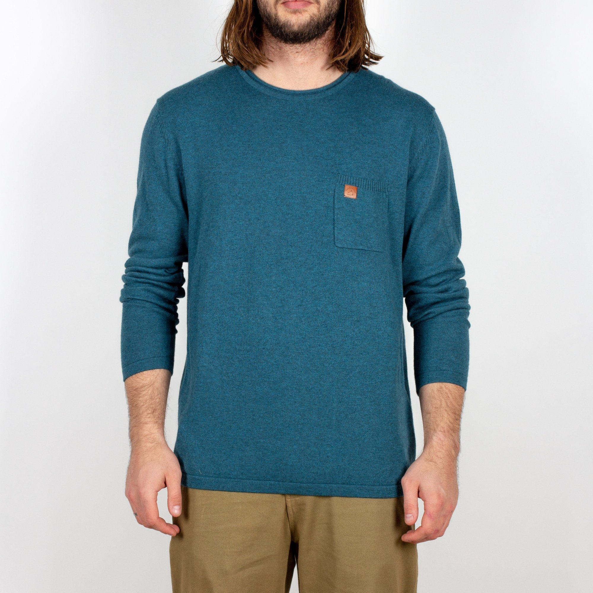 Himalayas Knitted Sweater - Teal image 3