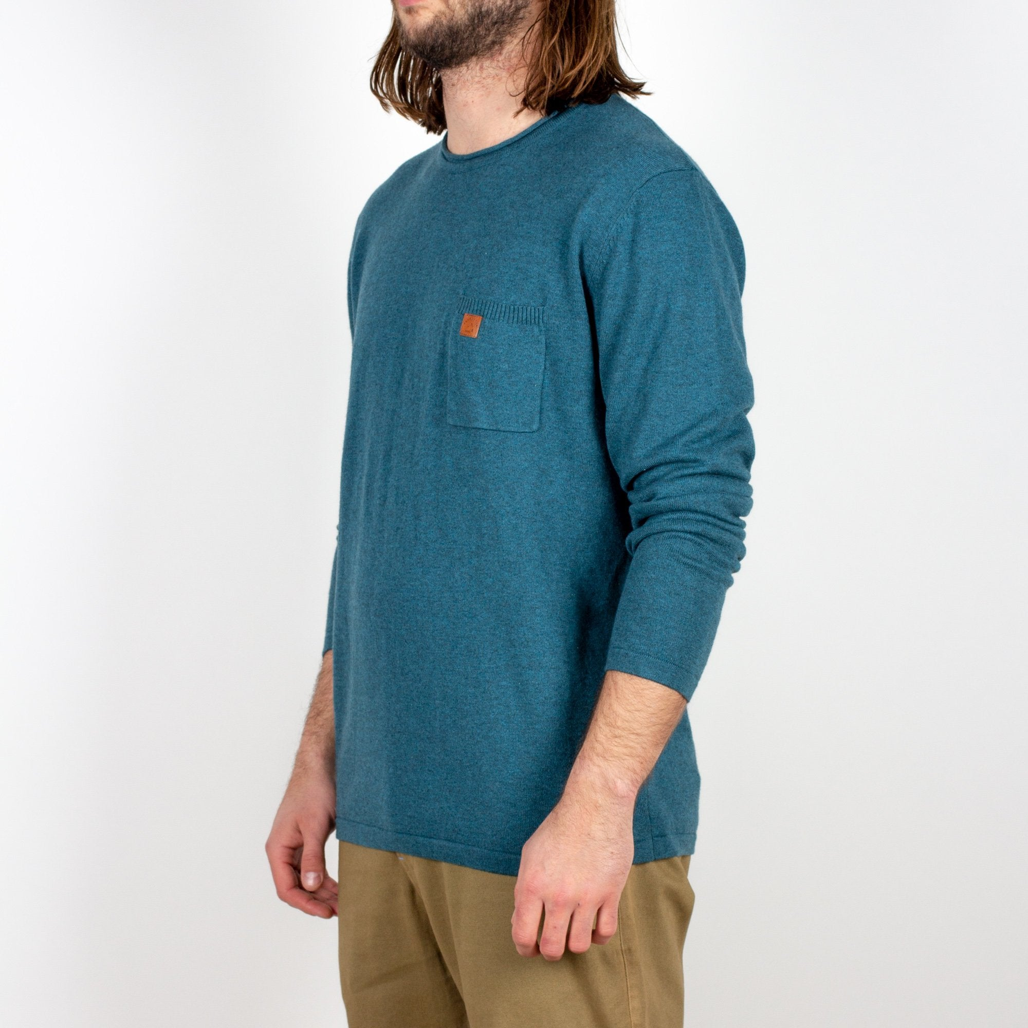 Himalayas Knitted Sweater - Teal image 2