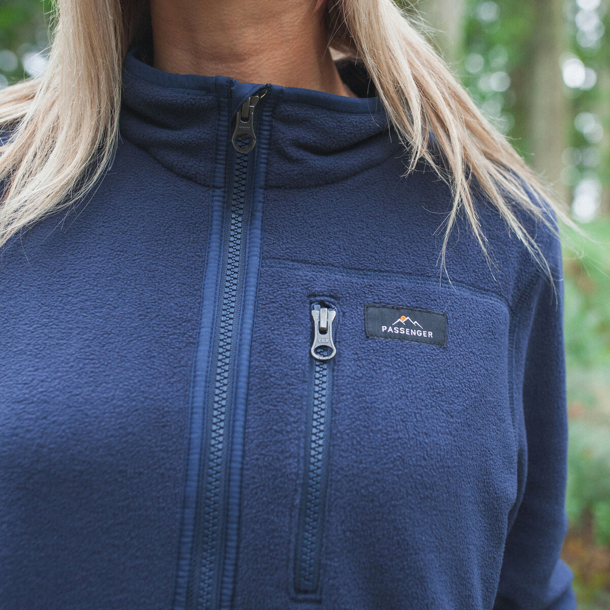 Homer 1/4 Zip Polar Fleece - Navy image 2
