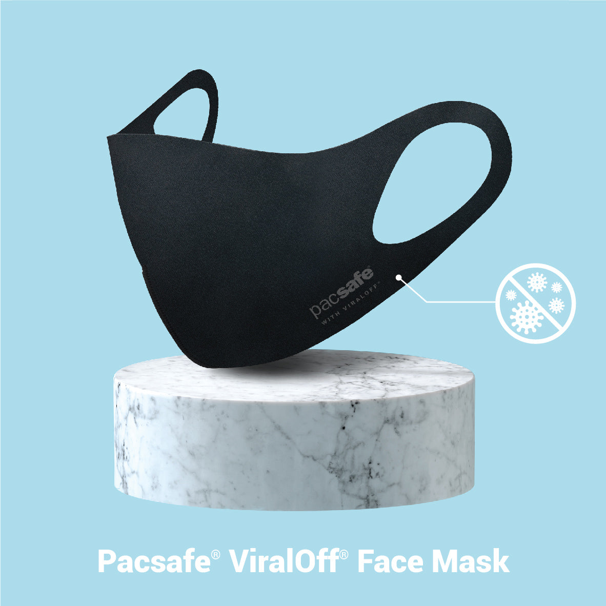 Pacsafe Viraloff Face Mask - Black image 2
