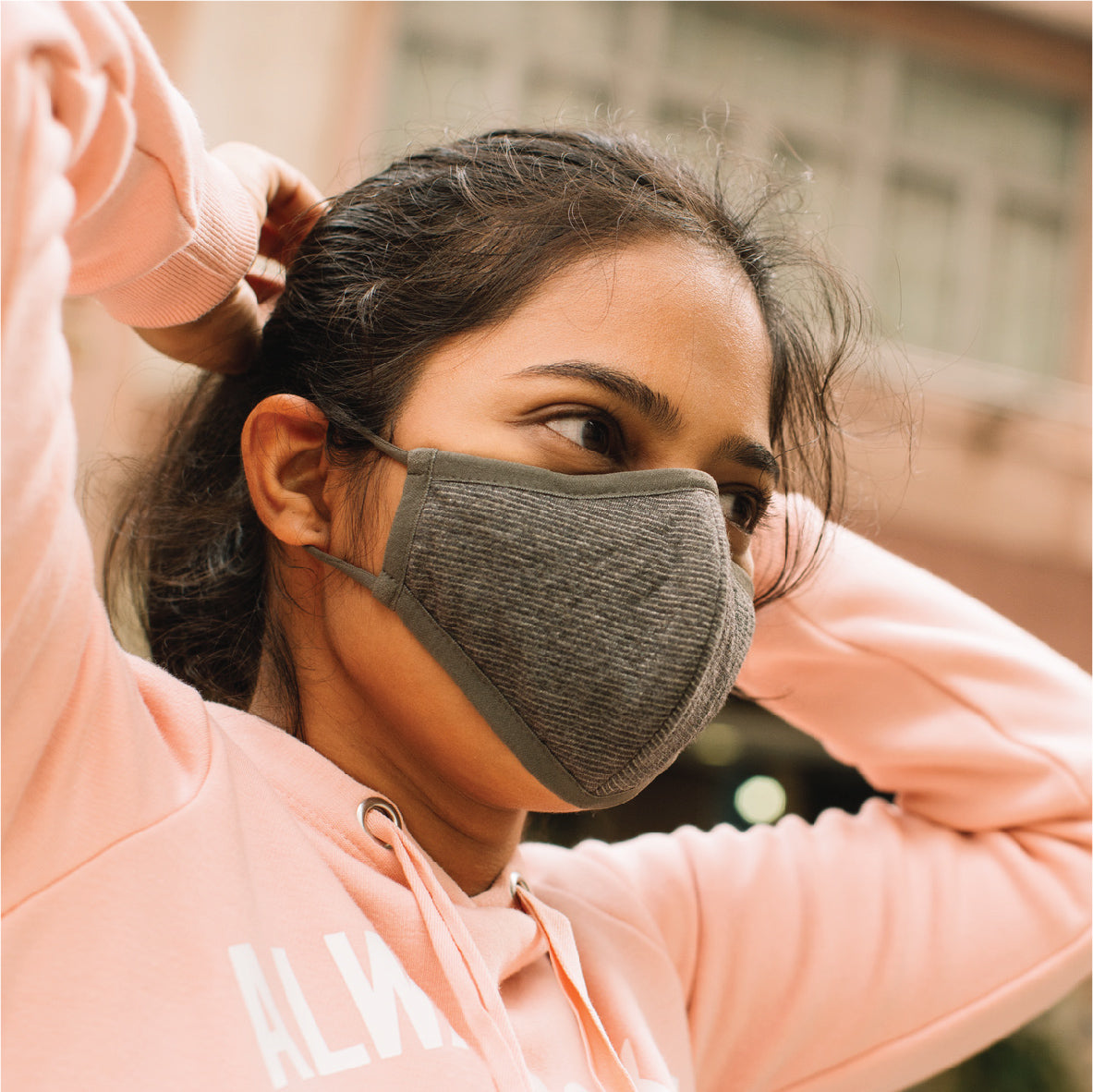Pacsafe Silver Ion Face Mask - Silver Gray image 3