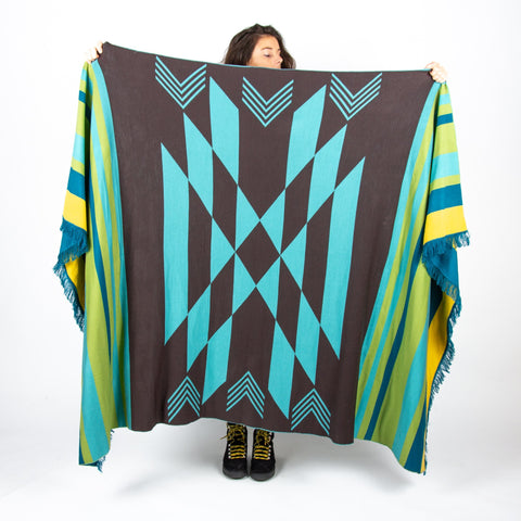 Lakes Blanket - Blue/Green/Yellow