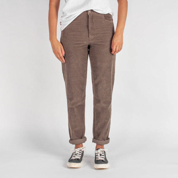 No Border Cord Trousers - Tan