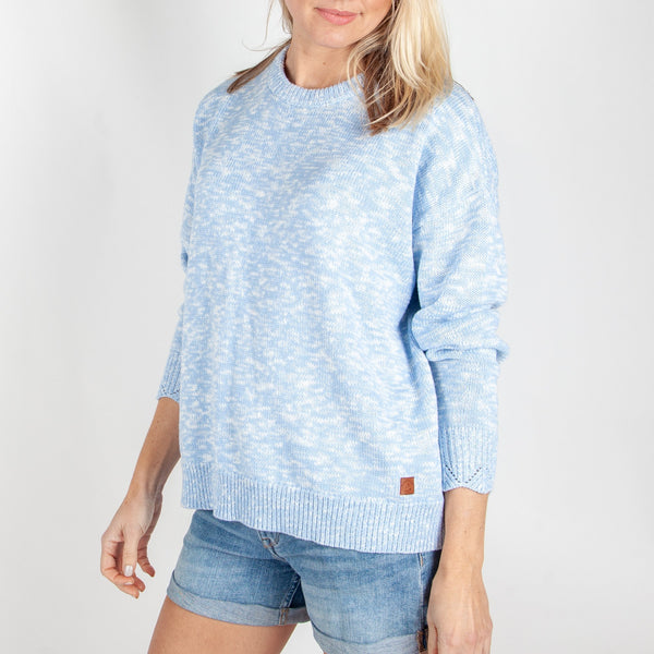 NOT LOST KNITTED SWEATER - DUSTY BLUE