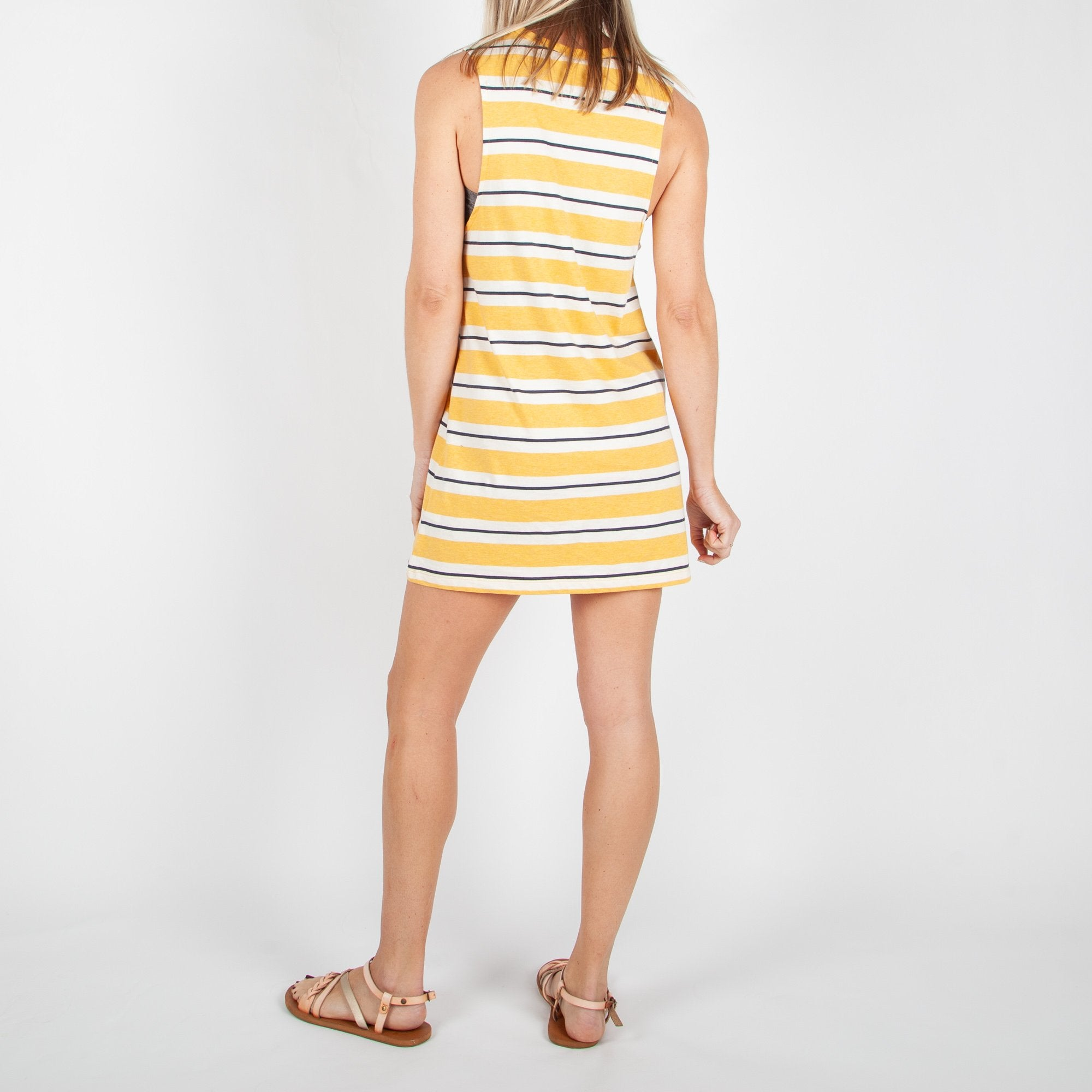 South Coast Dress - Golden Yellow Stripe image 5