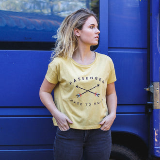 Womens Jinbei T-Shirt - Mustard Yellow