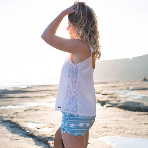 Layback Top - White
