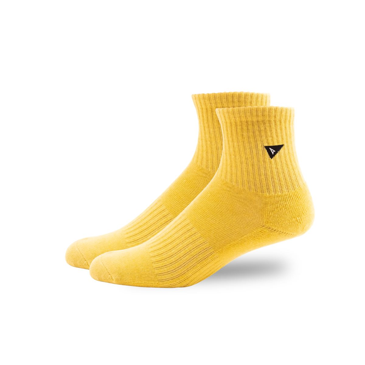 Arvin Goods Mini Crew Plant Dye Socks - Yellow image