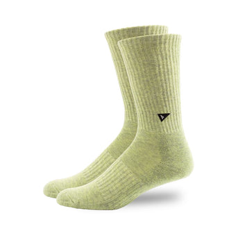 Arvin Goods Long Crew Plant Dye Socks - Green