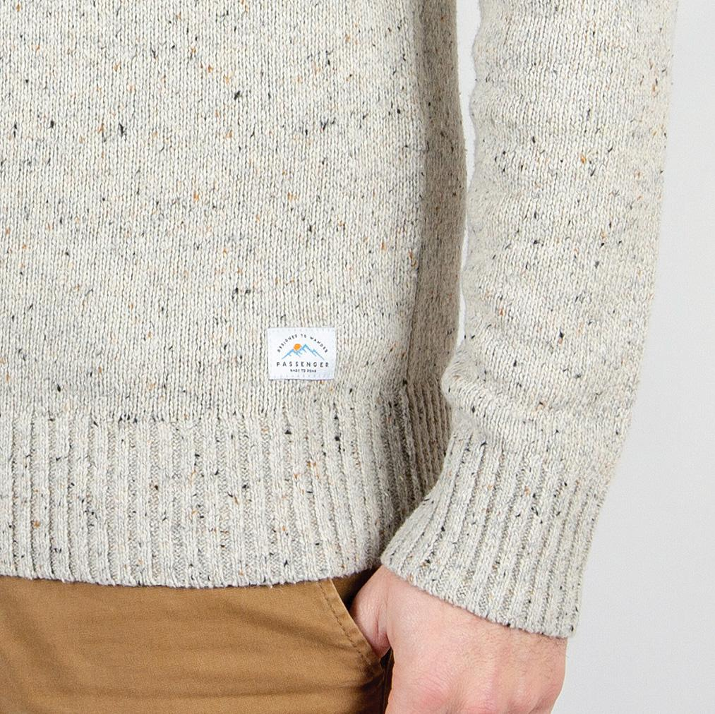 Crossing Knitted Sweater - Grey Fleck image 3