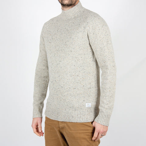 Crossing Knitted Sweater -  Grey Fleck