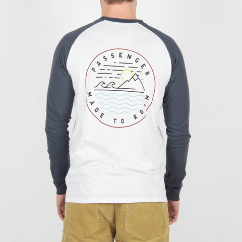 Dialler Long Sleeve T-Shirt - Midnight Navy/White