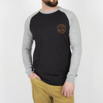 Fader Long Sleeve T-Shirt - Asphalt Grey/Mid Grey Marl