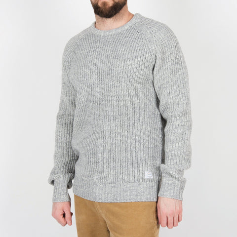 Lewis Knitted Sweater - Light Grey/White
