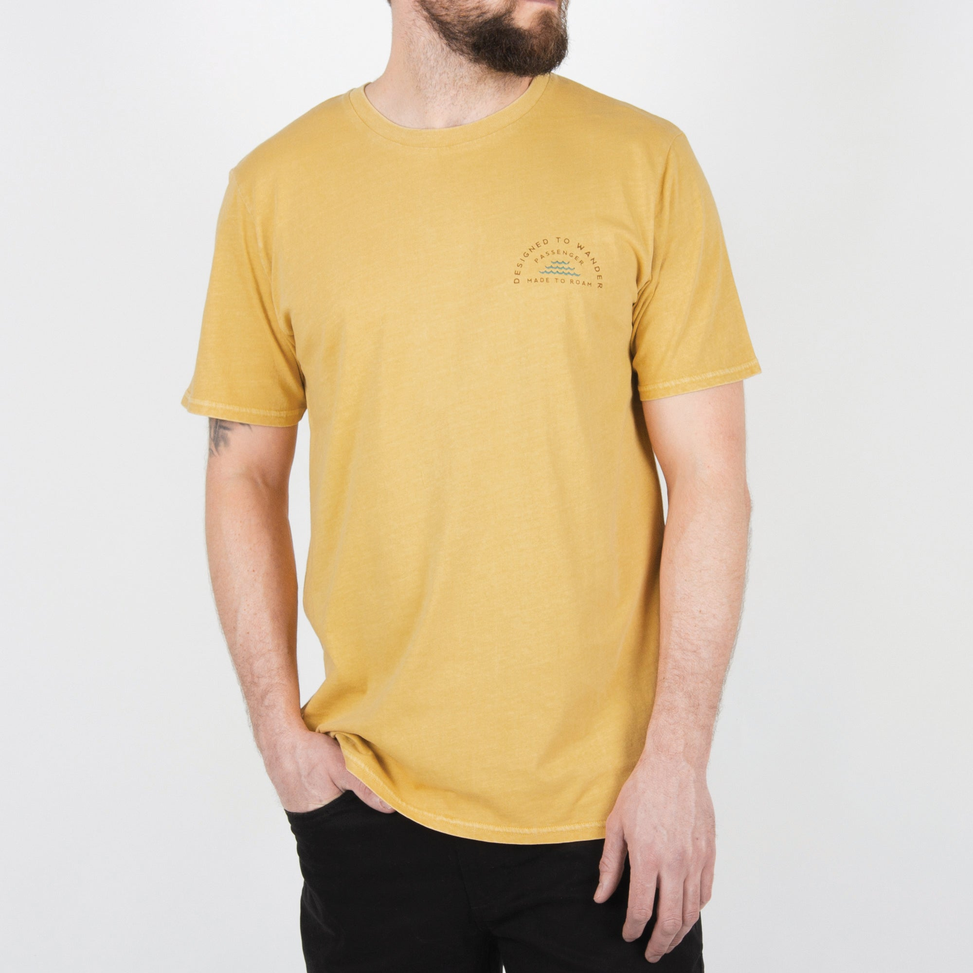 Woodpile T-Shirt - Ochre Yellow image 2