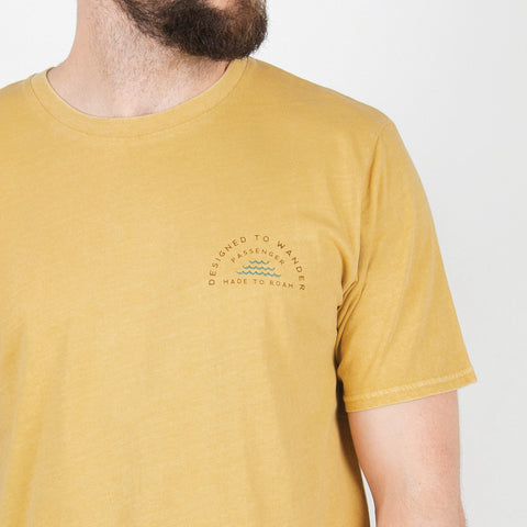 Woodpile T-Shirt - Ochre Yellow