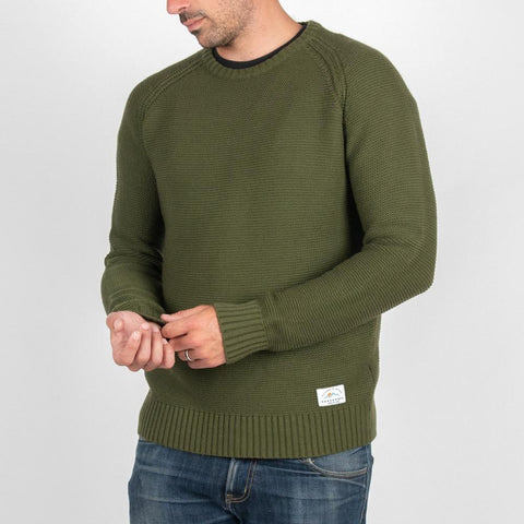 Murkwood Knitted Sweater - Khaki Green