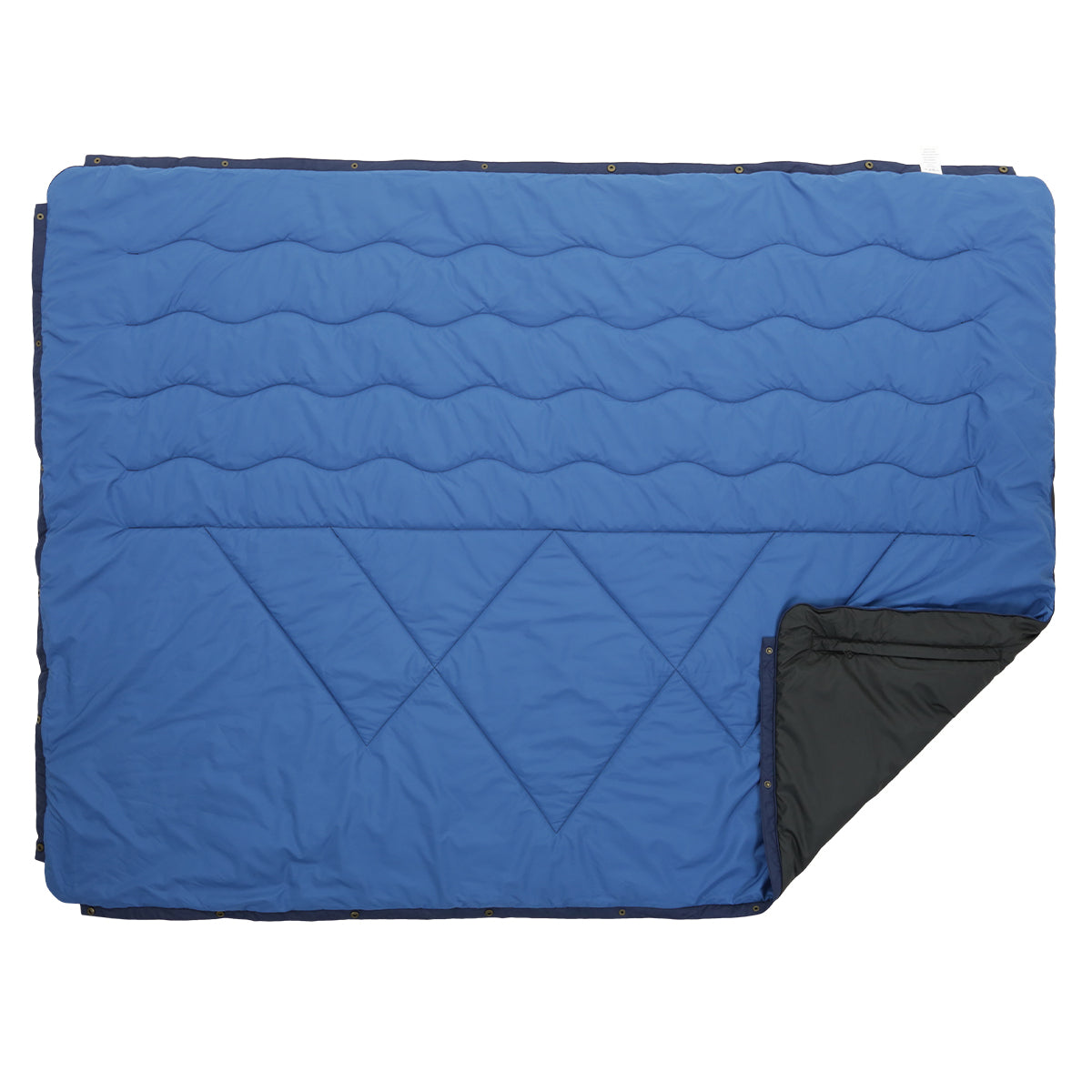 Nomadics 1 Person Insulated Blanket - Deep Water Blue & Charcoal image 4