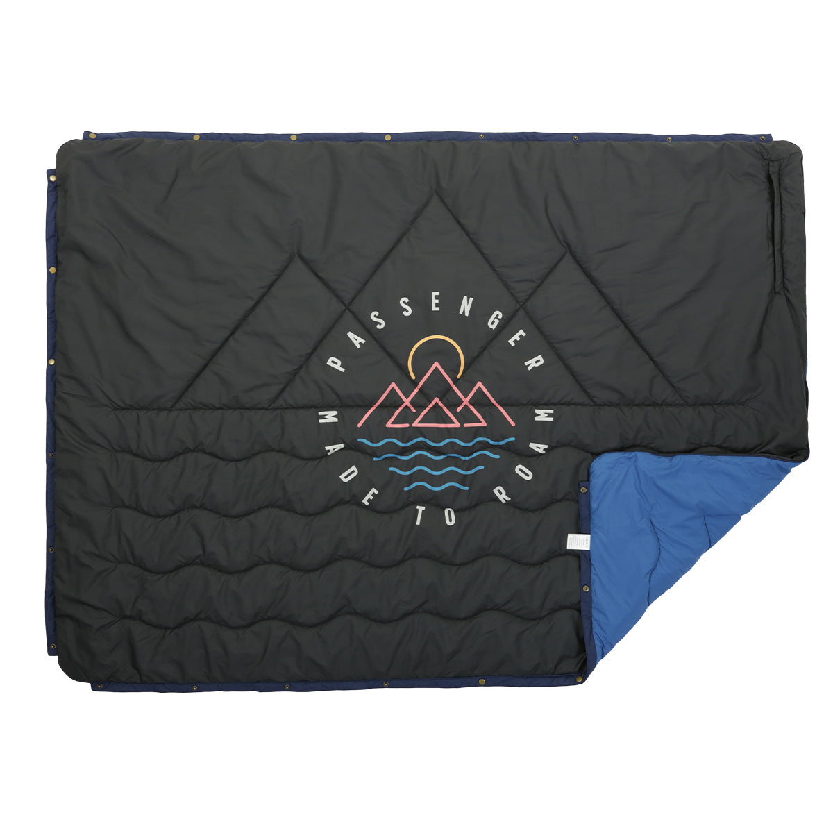 Nomadics 1 Person Insulated Blanket - Deep Water Blue & Charcoal image 2