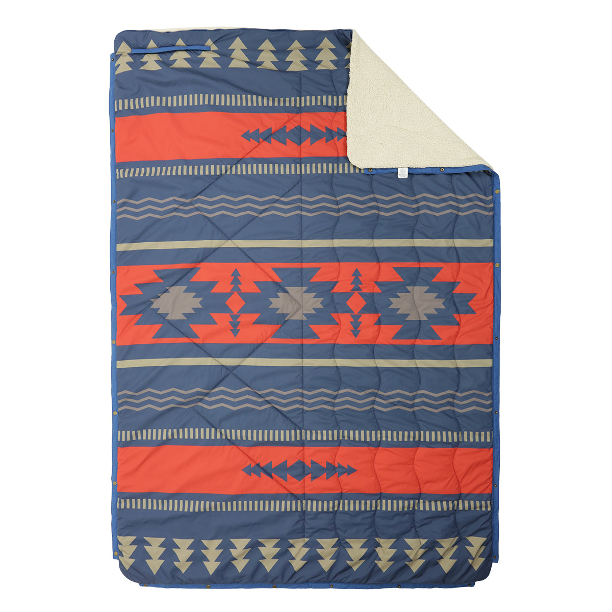 Nomadic 2 Person Sherpa Blanket - Navy & Red image 2