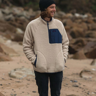 Offgrid 1/4 Zip Sherpa Fleece - Off White