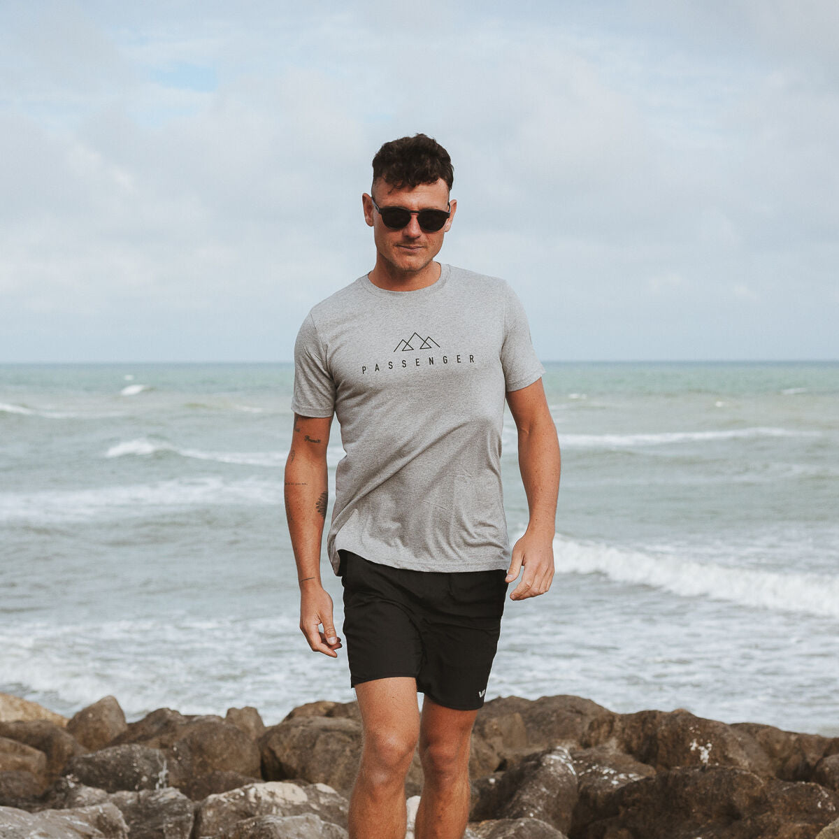 Offset T-Shirt - Grey Marl image 2