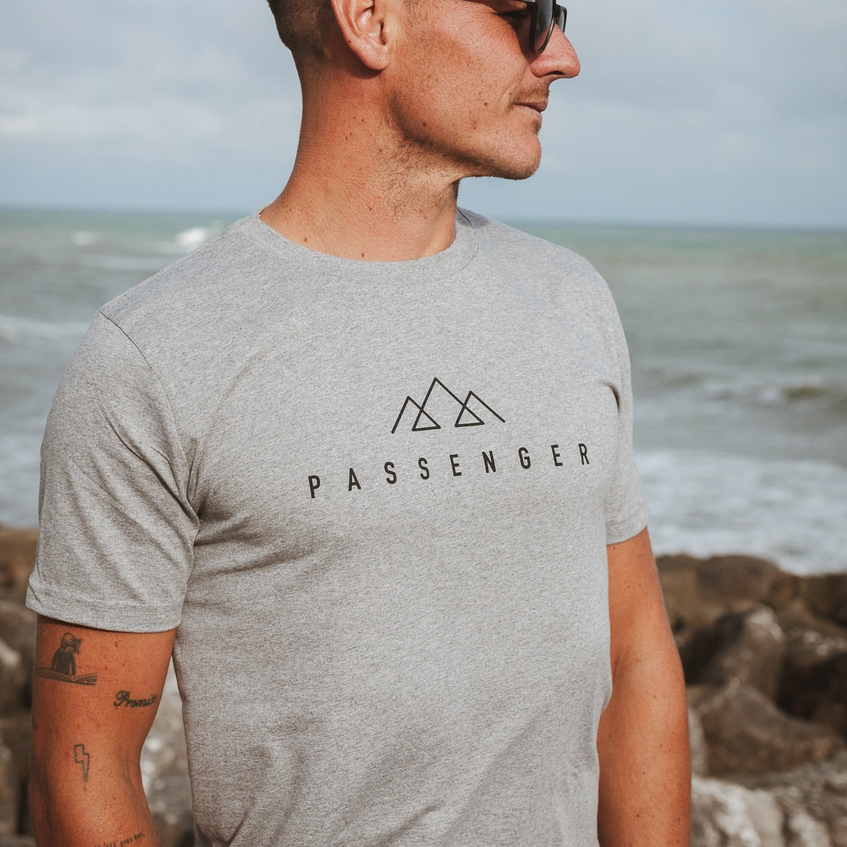 Offset T-Shirt - Grey Marl image 3