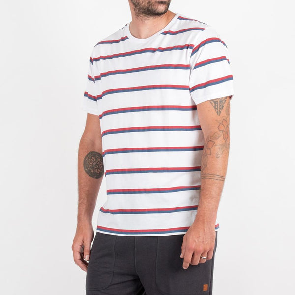 Ojai T-shirt - White stripe