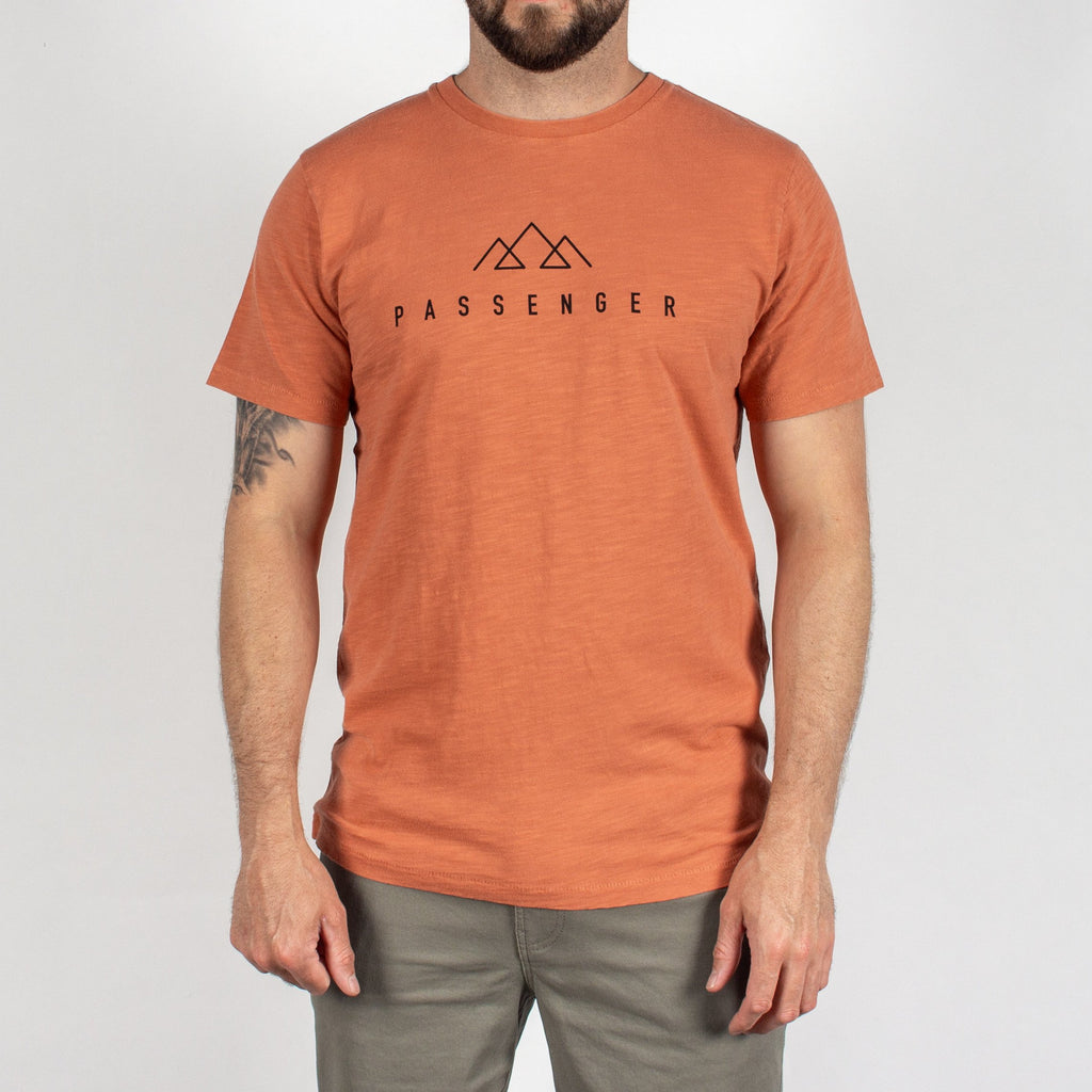 OFFSET T-SHIRT - MANGO ORANGE