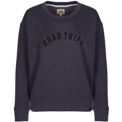 Time To Fly Women's Navy Roadtrips Surf Travel Sweater