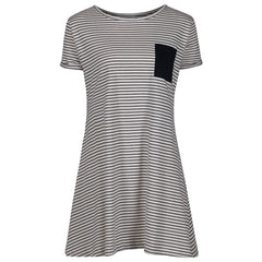 Orca Stripe Jersey T-shirt Surf Travel Beach Dress