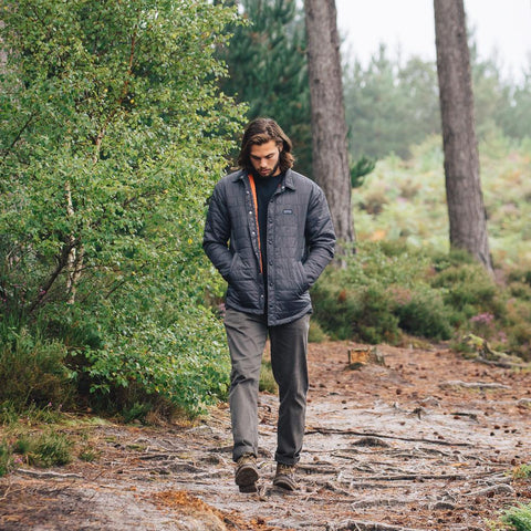 Sequoia Charcoal Padded Shacket | Surf clothing uk