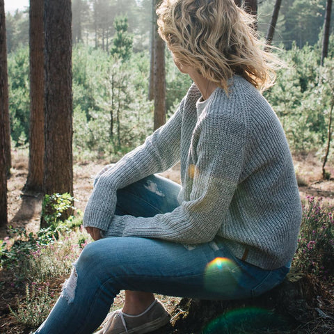 Pine Knitted Sweater Grey