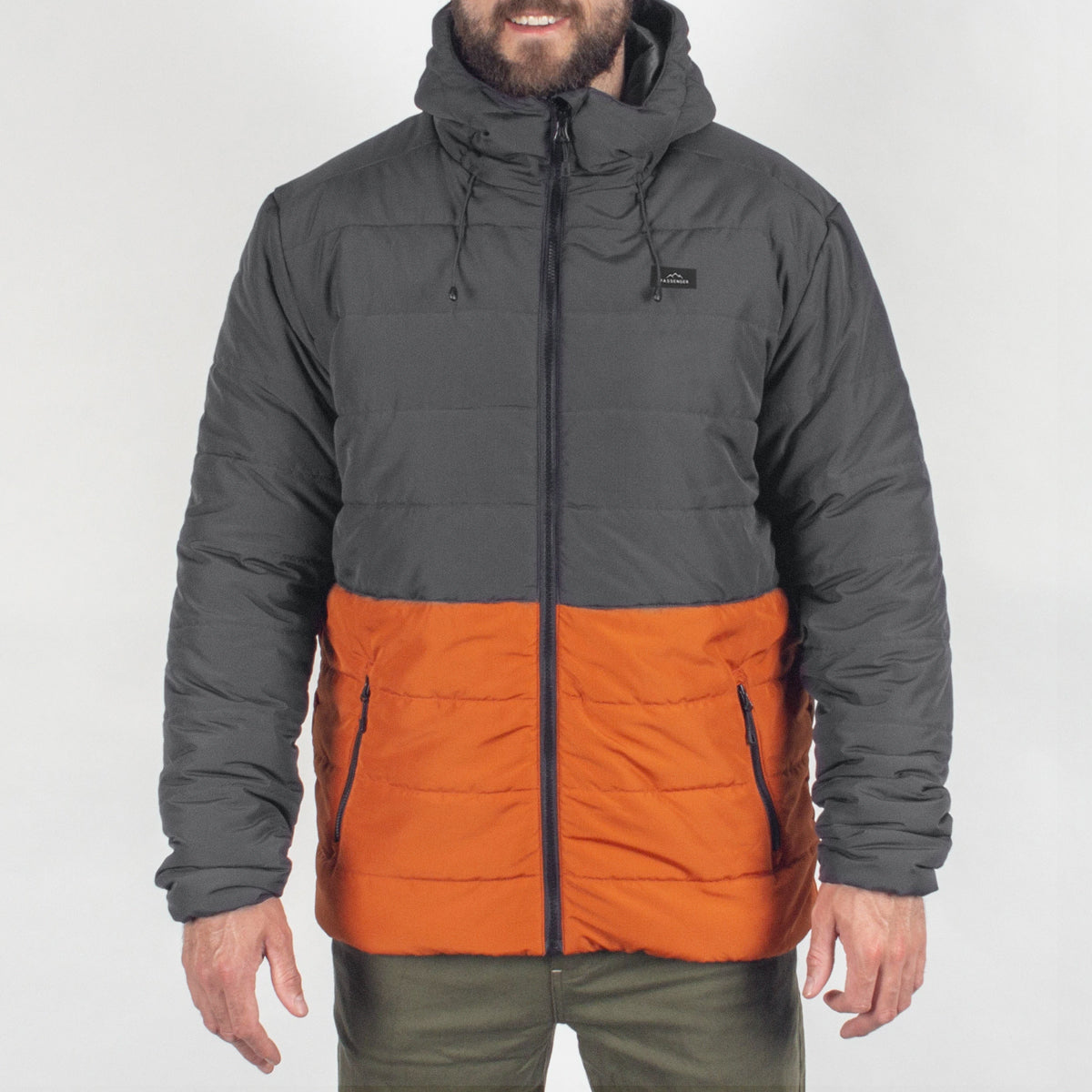 Patrol Insulated Jacket - Charcoal/Rust image 6
