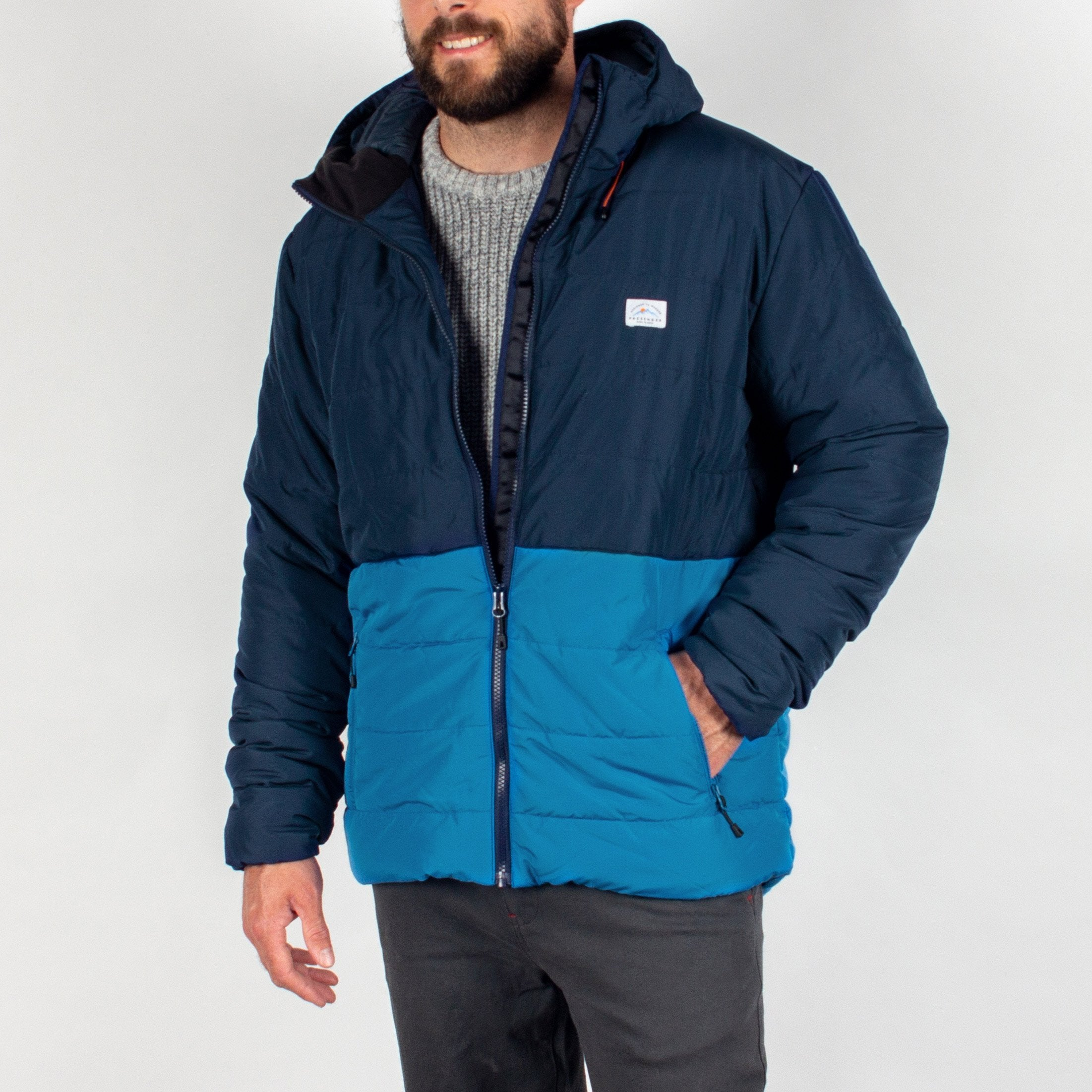 Patrol Insulated Jacket - Navy/Deep Water Blue image 2