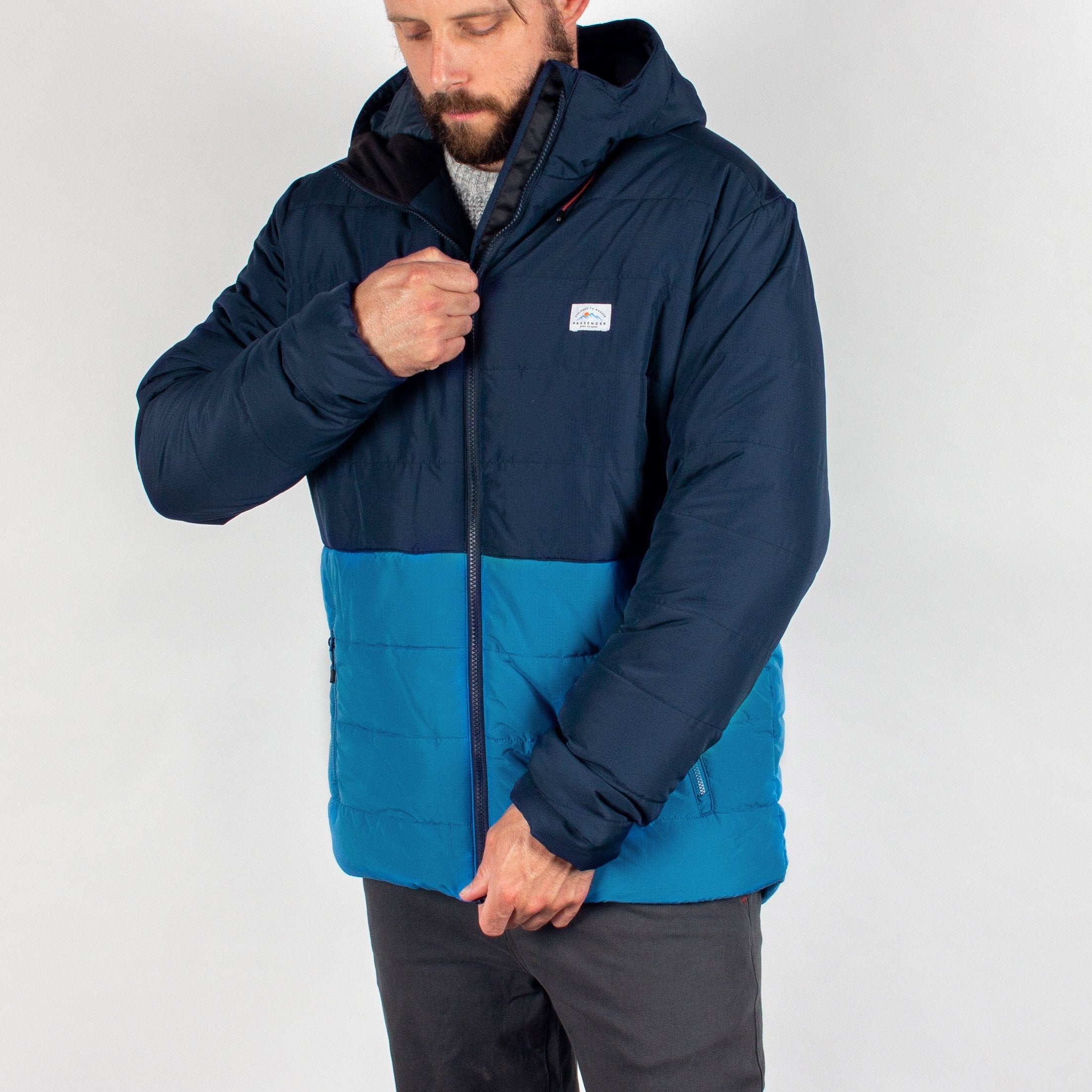 Patrol Insulated Jacket - Navy/Deep Water Blue image 3