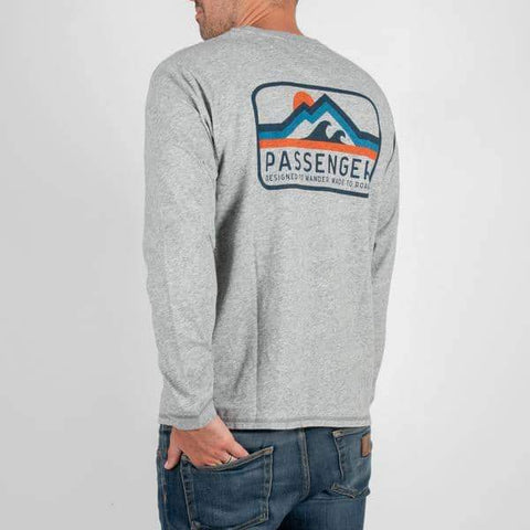 Peaked Long Sleeve T-shirt - Grey marl