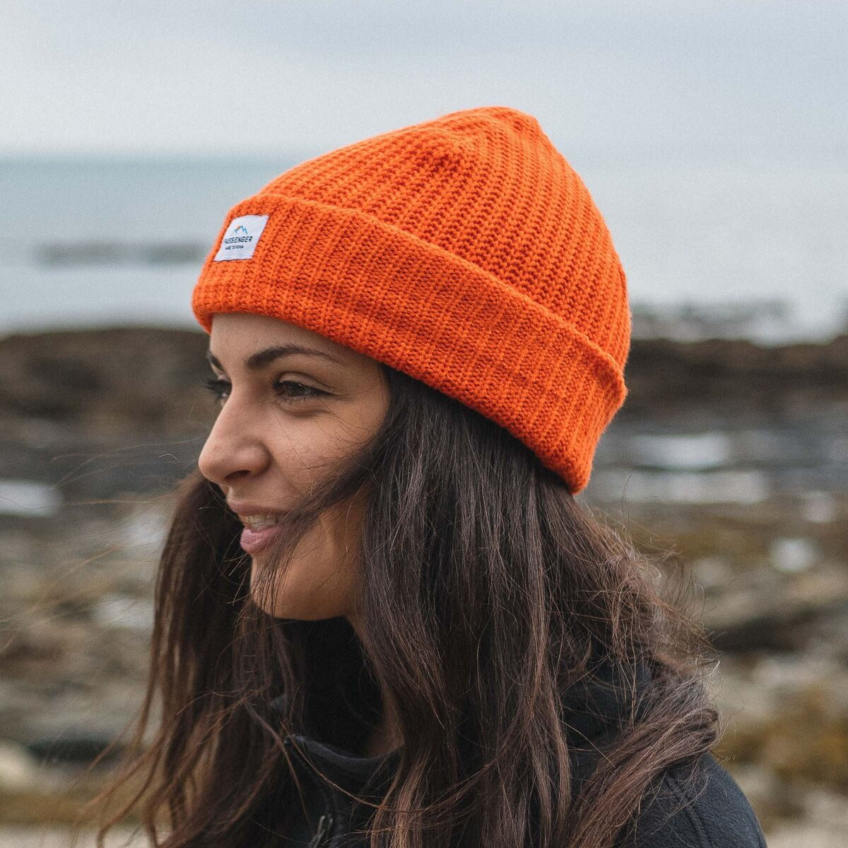 Pop Top Beanie - True Orange image 5